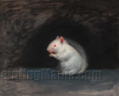 An Albino Squirrel