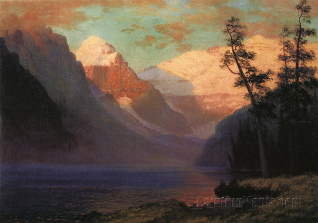 Evening Glow, Lake Louise
