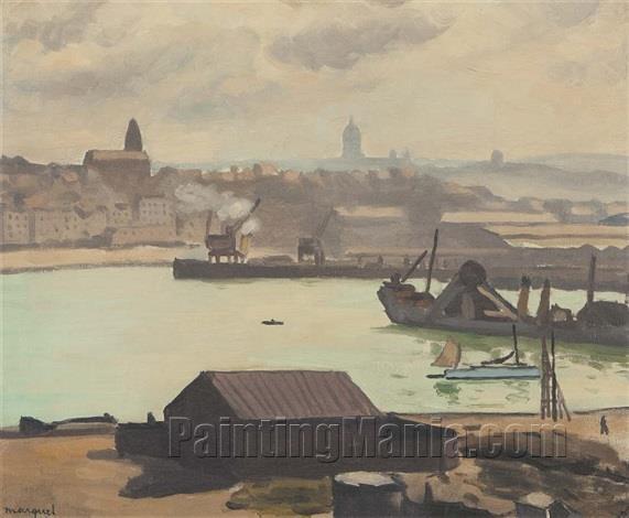 Boulogne-sur-Mer, the Port, Overcast
