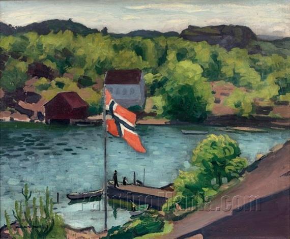 Hesnes and the Norwegian Flag