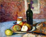 Still Life with Cup, Fruit and Bottle