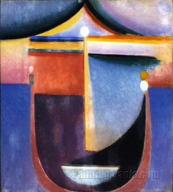 Abstract Head: Composition No. 5 - 'The Sea'