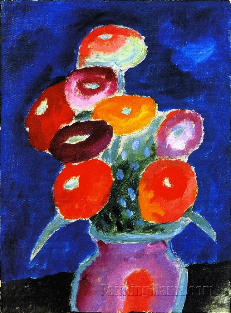 Flowers In A Vase Alexej Von Jawlensky Paintings