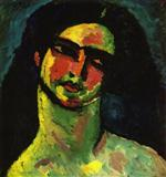Head of An Italian Woman witih Black Hair from the Front