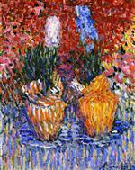 Hyacinth Pots (Hyacinths in Orange)