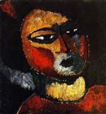Woman with Red Cheeks