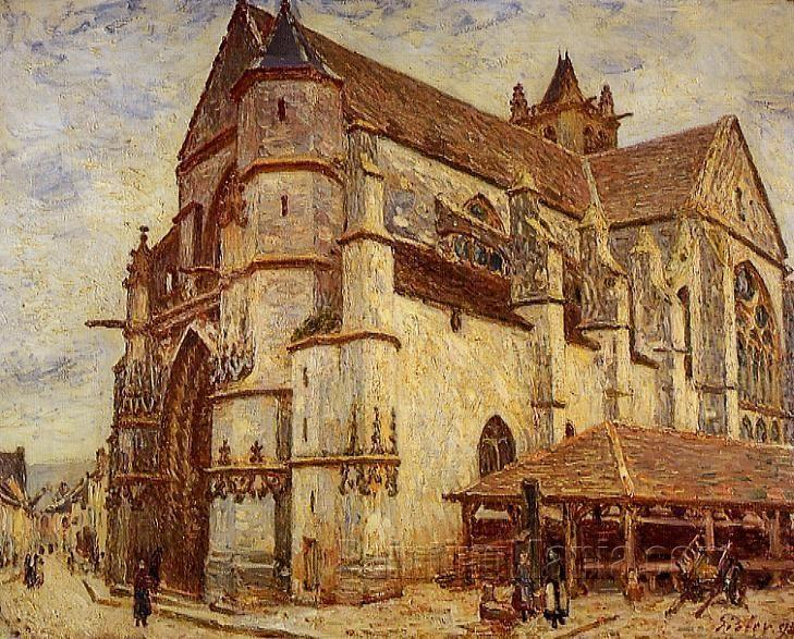 The Church at Moret, Icy Weather