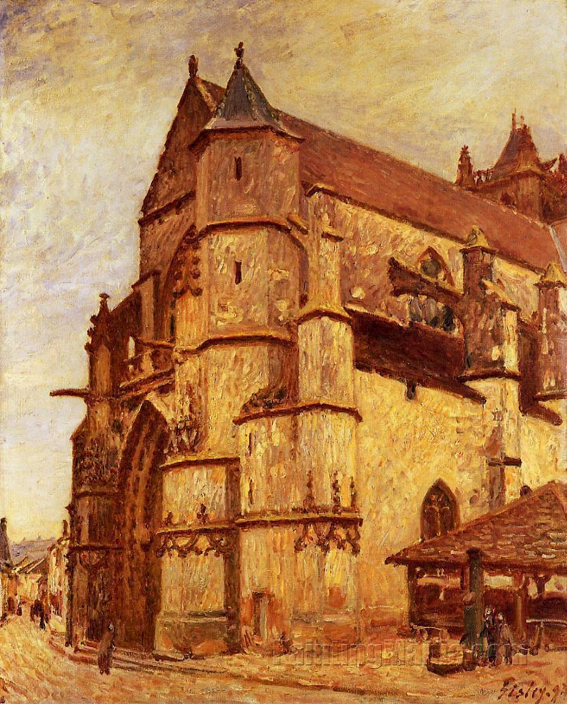 The Church at Moret, Rainy Morning
