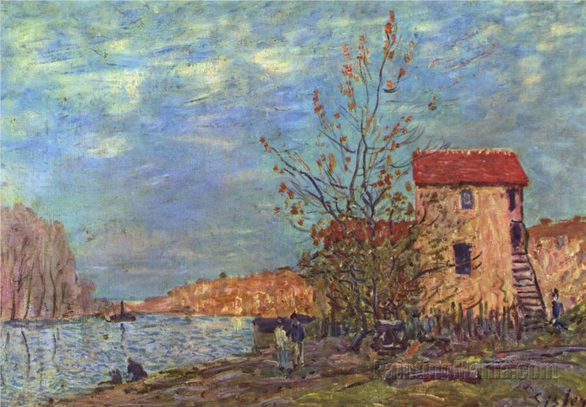 The Loing at Moret 1881