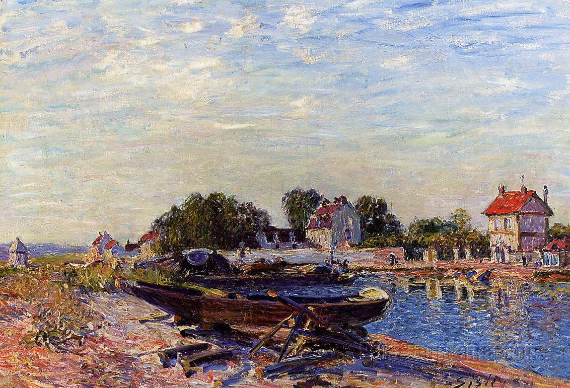 The Loing at Saint-Mammes-1884