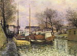 Barges on the Saint-Martin Canal