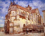The Church at Moret. Afternoon