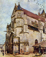 Church of Moret in the Afternoon Sun