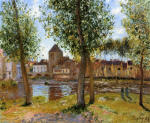 Poplars a Moret-sur-Loing, an August Afternoon