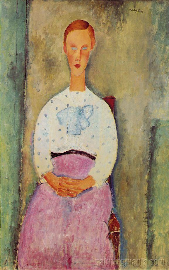 Girl with a Polka-Dot Blouse