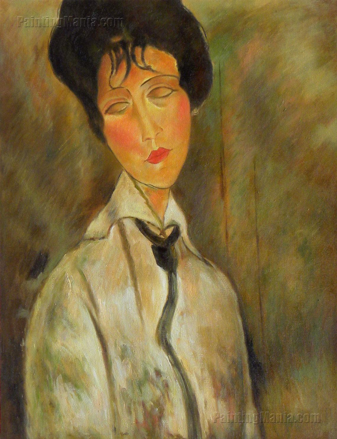 Portrait of a Woman in a Black Tie