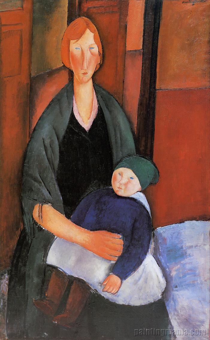 Seated Woman with Child