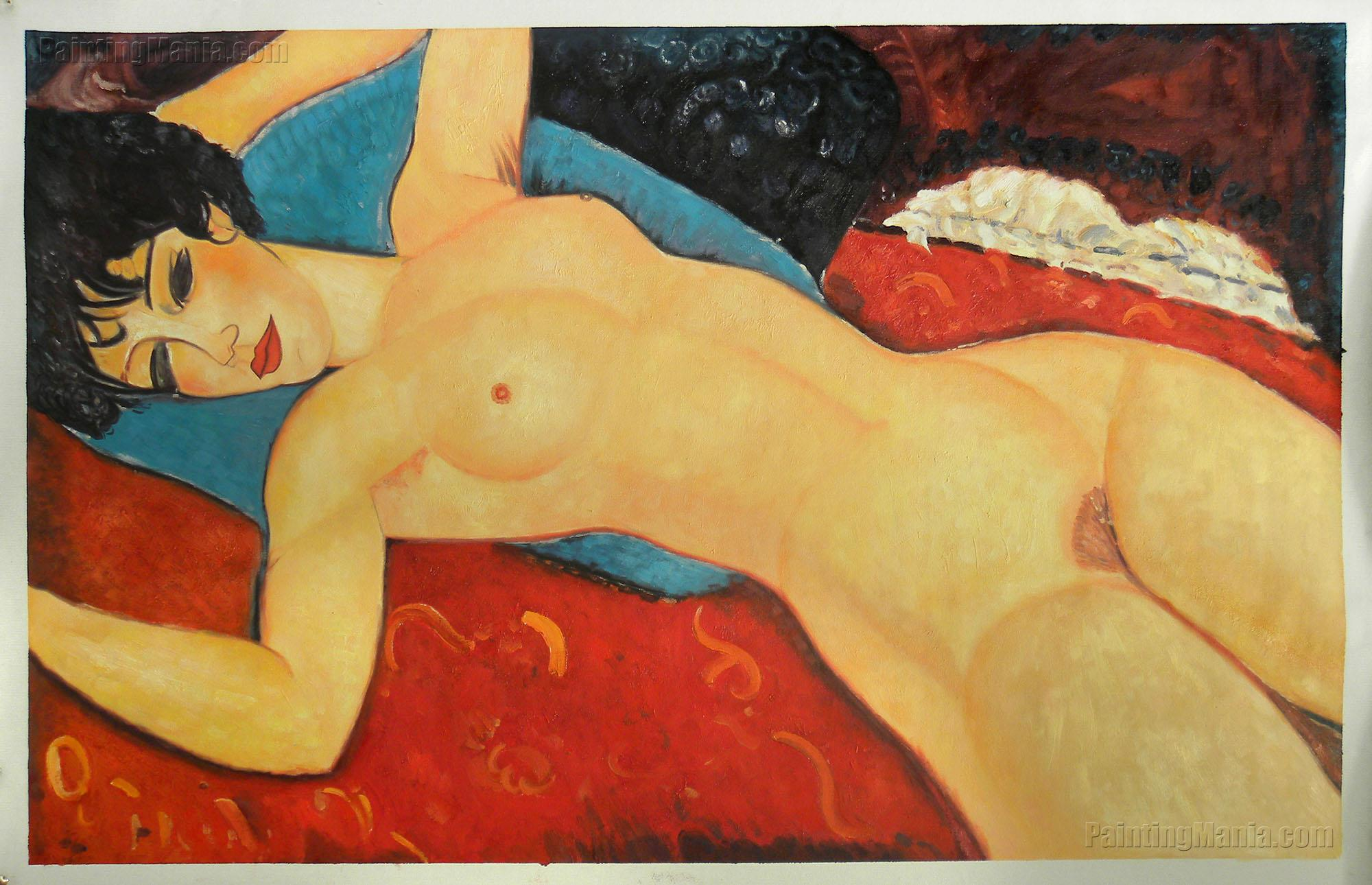 Sleeping Nude with Arms Open (Red Nude)