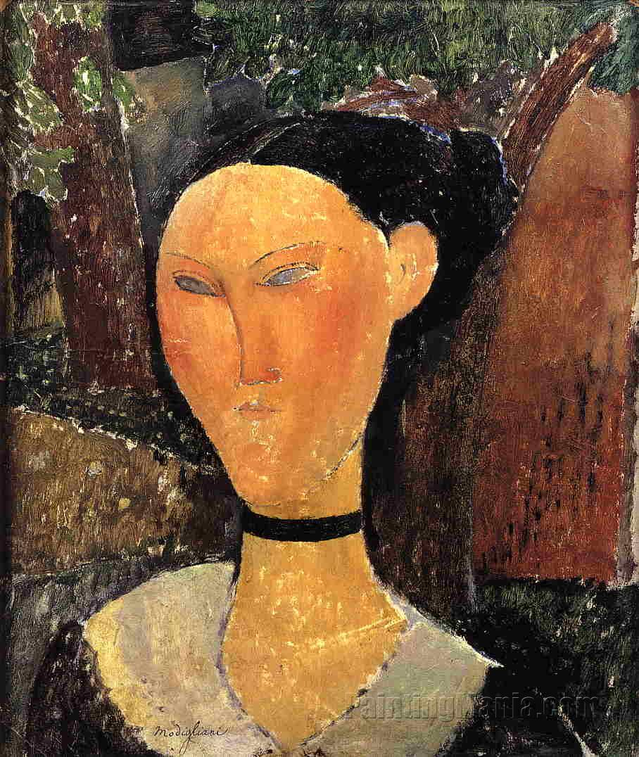 Woman with Velvet Ribbon
