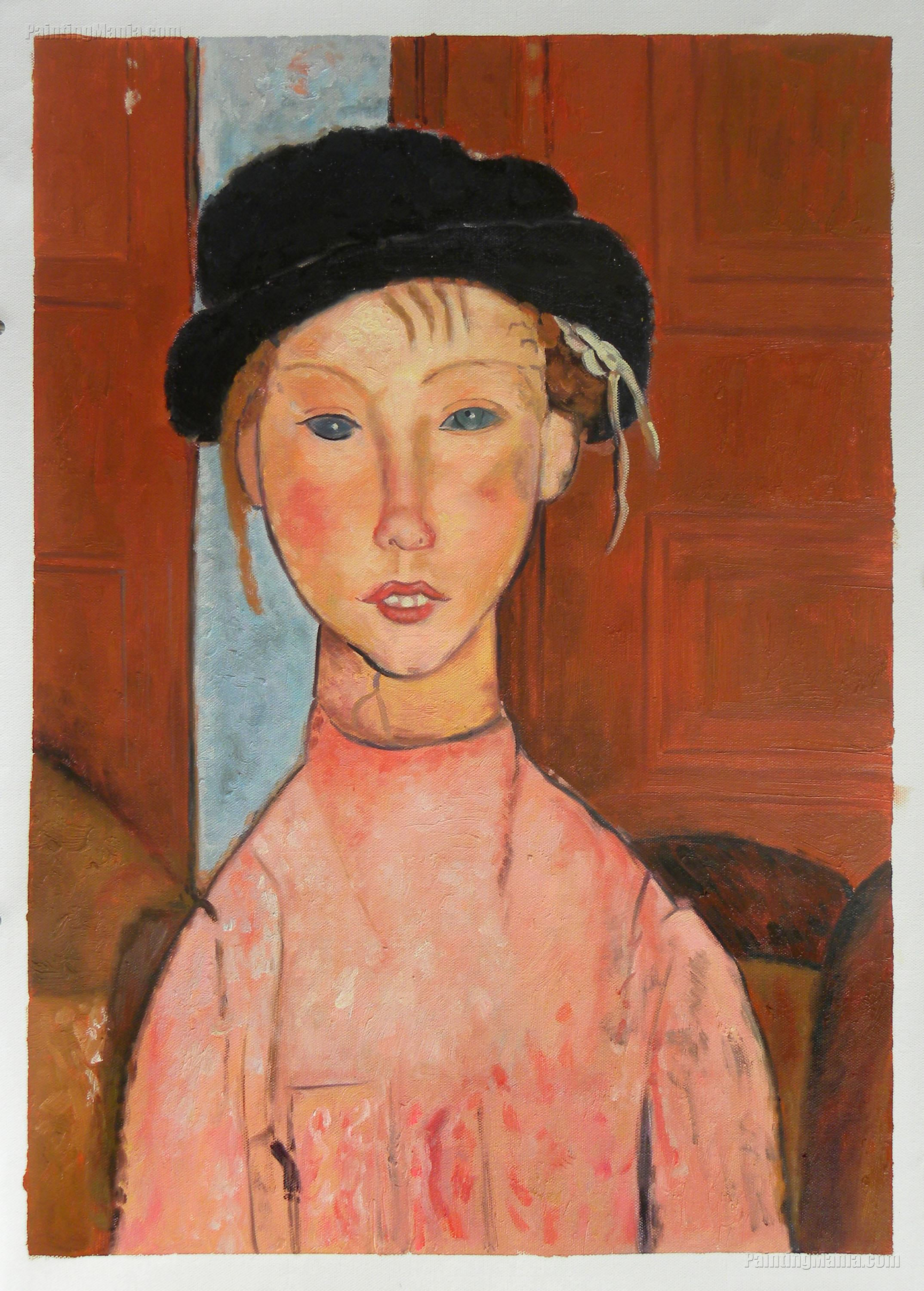 Young Girl in Beret