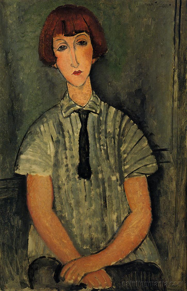 Young Girl in a Striped Blouse