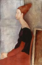 Portrait of Jeanne Hebuterne in Profile