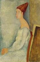 Portrait of Jeanne Hebuterne Seated in Profile