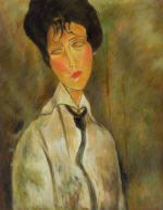 Portrait of a Woman in a Black Tie