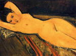 Reclining Nude, Arms Folded under Her Head