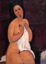 Seated Nude with Shift