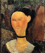 Woman with Velvet Ribbon