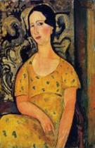 Young Woman in a Yellow Dress