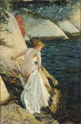 A Bather at the Rocks