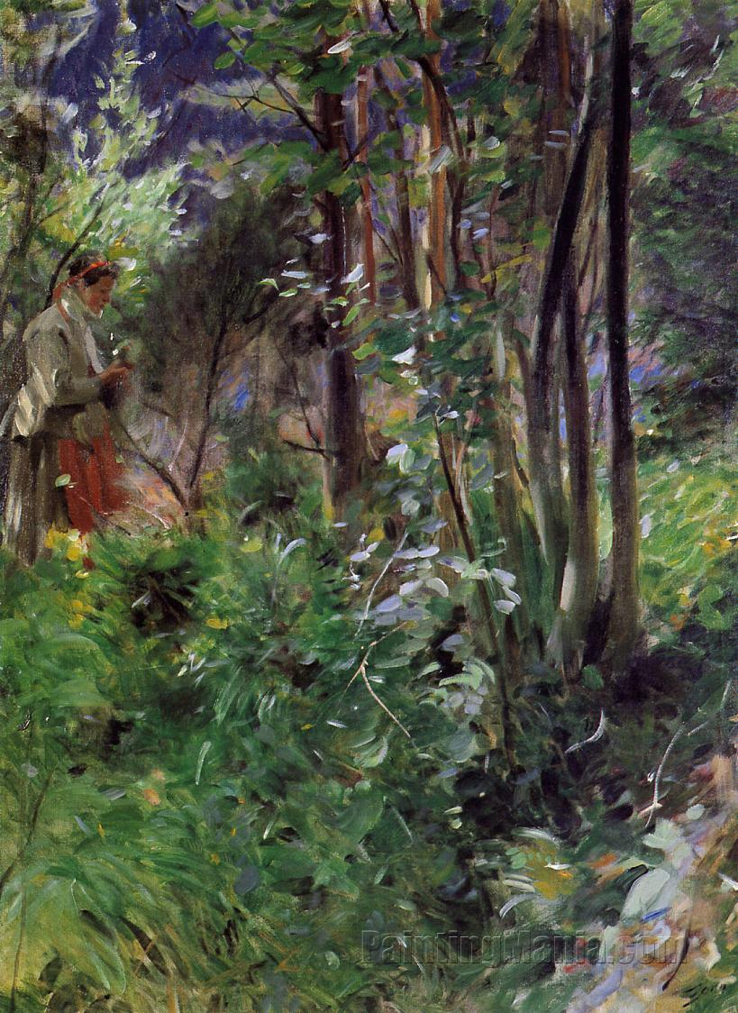 A Woman in a Forest