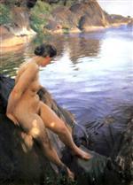 Dalakulla having a Bath, Sandhamn