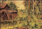 Barn After the Rain