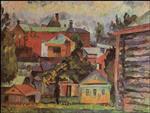 Landscape with a Barn. Sergiev Posad
