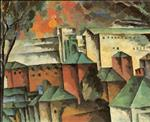 Landscape with a Monastery Wall