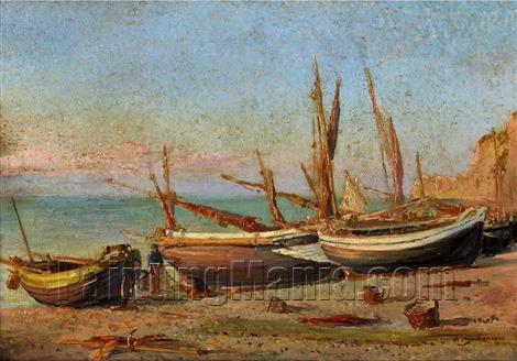 Bateaux sur la plage (Boats on the Beach)