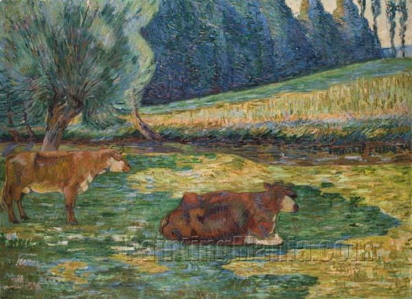 Breton Landscape (Vaches en Repos)