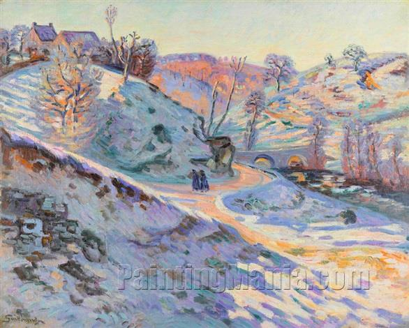 Charrant Bridge, White Frost, Crozant
