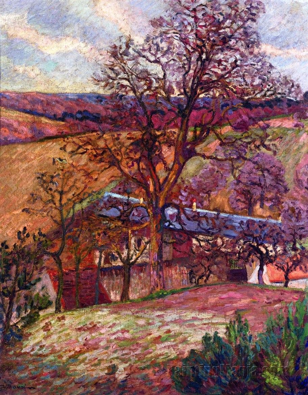 Farm and Trees at Saint-Cheron