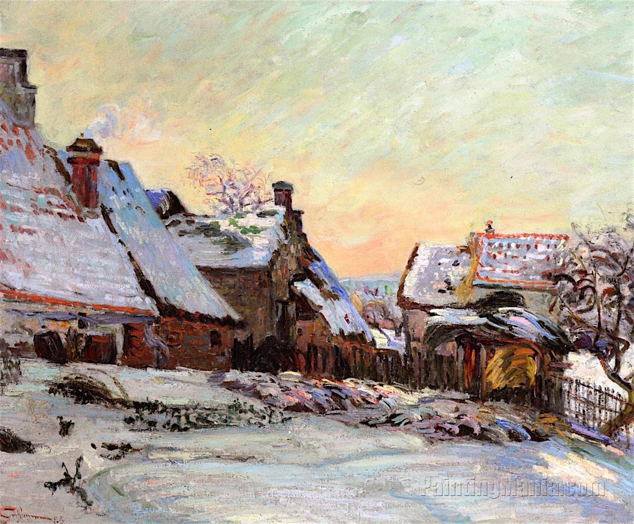 Farms in Winter in Ile-de-France