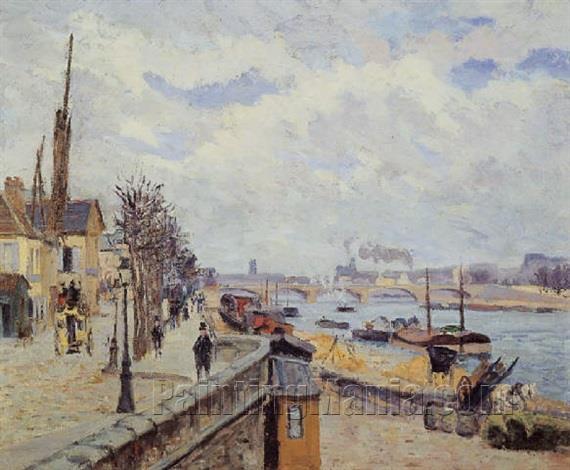 The Seine in Paris 1873