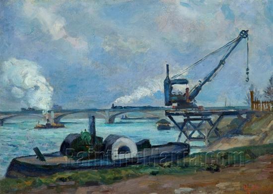 The Seine in Paris 1880