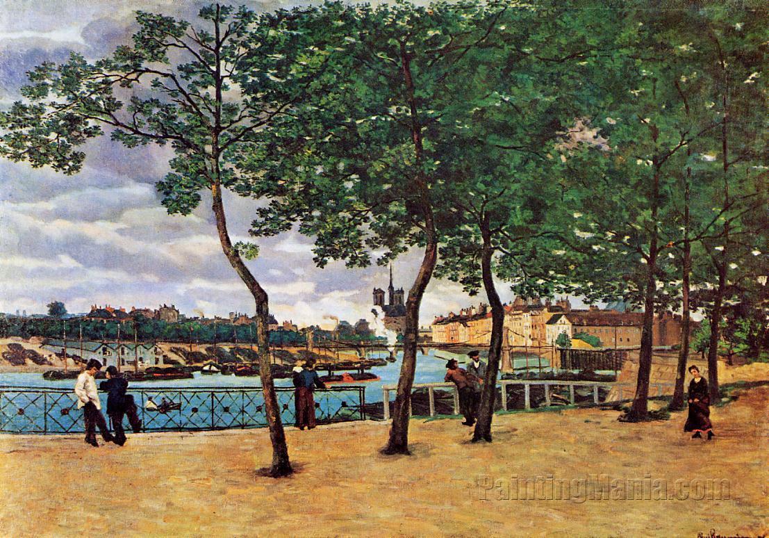 The Seine at Paris (Quai de la Rapee)