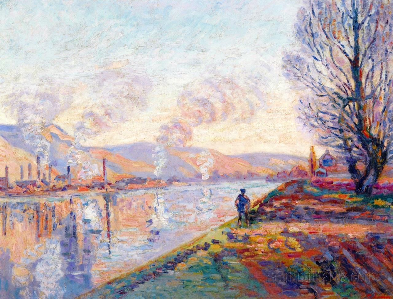 The Seine Upstream of Rouen 1890