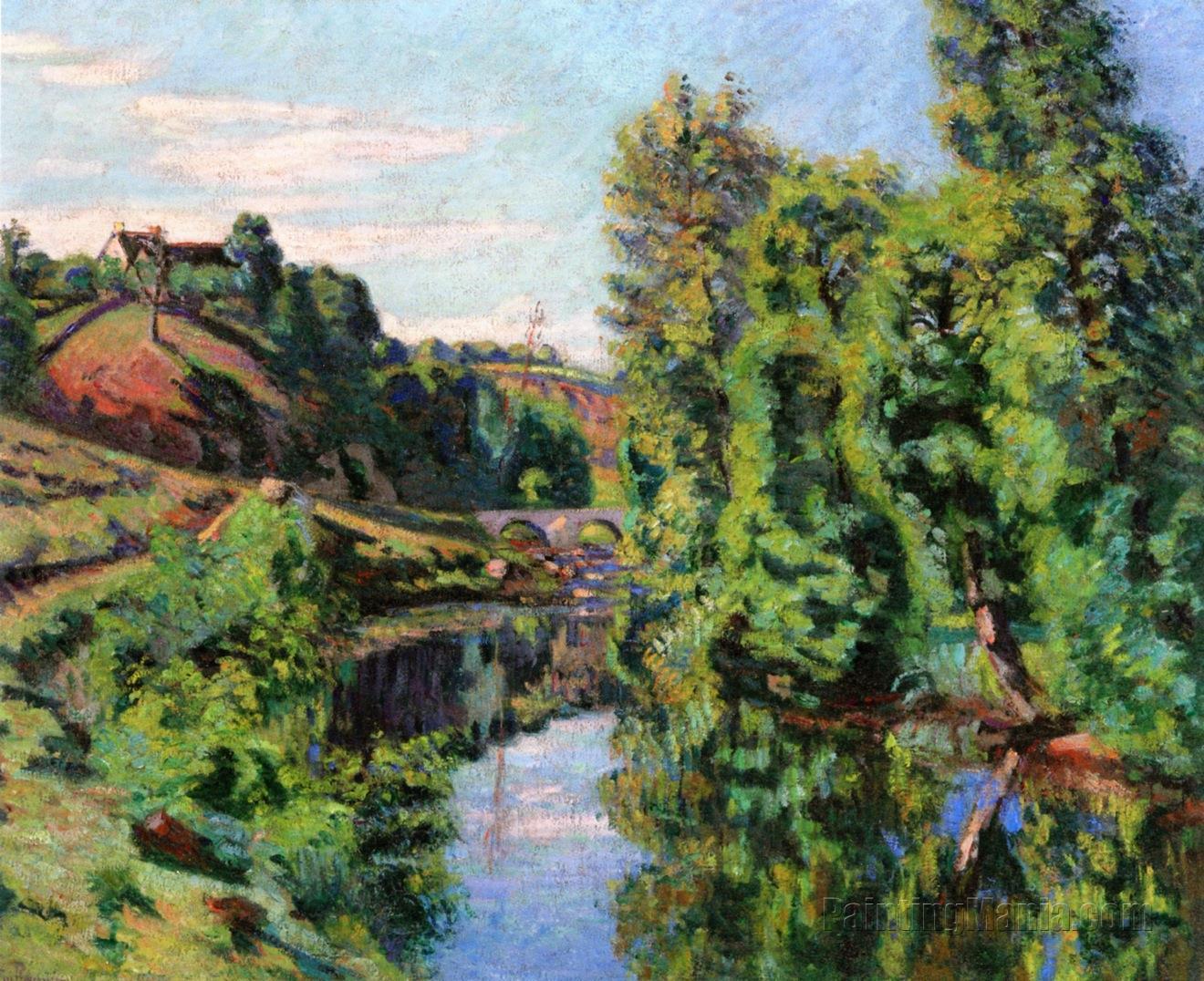 Vue du pont Charraud, Creuse