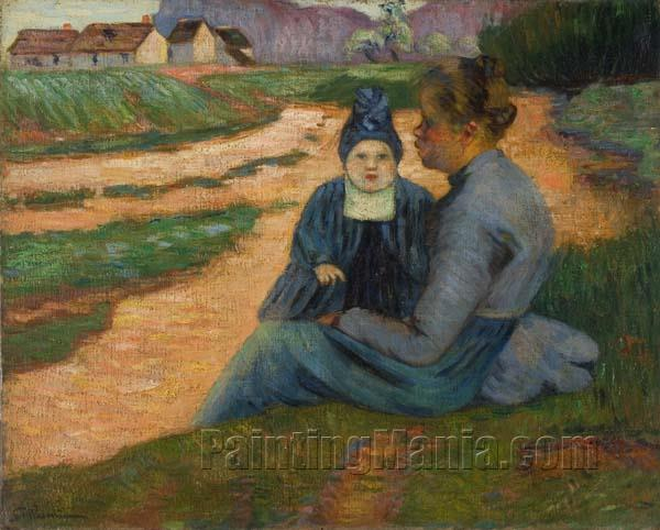 Woman and Child in Landscape