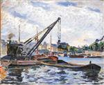 Banks of the Seine with Barges